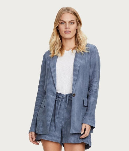 Michael Stars Lottie Striped Linen Blazer