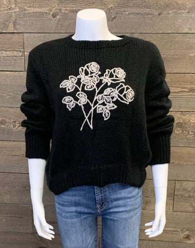 Wooden Ships Night Rose Sweater