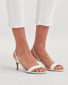 7 For All Mankind Roxanne Ankle with Raw Hem in White Fashion -Final Sale