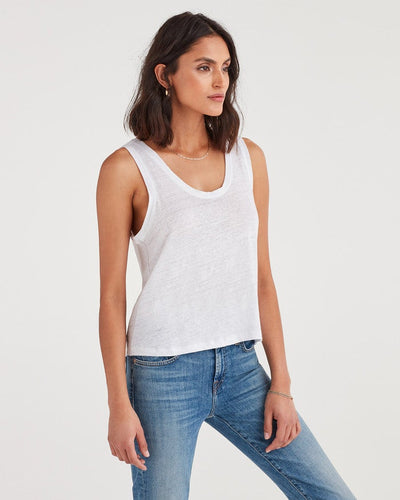7 For All Mankind Scoop Tank in White