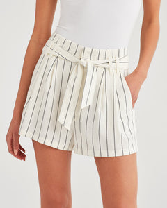 7 For All Mankind Tie Waist Short in Miroglio Stripe