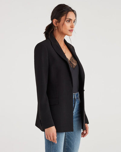 7 For All Mankind Boyfriend Blazer in Jet Black