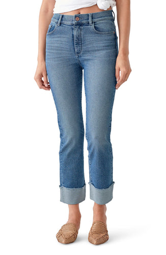 DL1961 Mara Ankle High-Rise Straight Jeans in Monclair