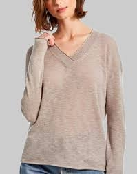 Michael Stars Tami Open Knit V-Neck Sweater