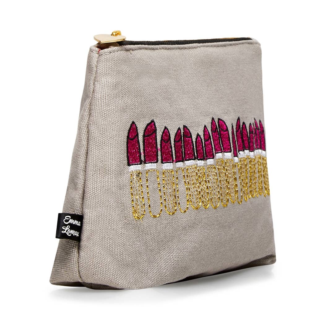Embroidered Lipstick Pouch - 2 colors