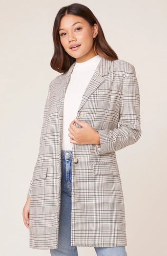 BB Dakota Plaid Reputation Boyfriend Coat