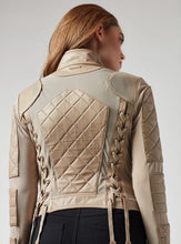 Load image into Gallery viewer, Blanc Noir Leather Mesh Moto Jacket