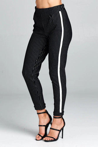Renee C. High-Waisted Striped Pants