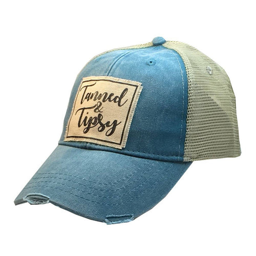 Tanned & Tipsy Distressed Trucker Cap