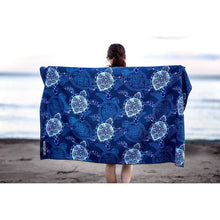 Load image into Gallery viewer, Beach Towel - Blue Turtles