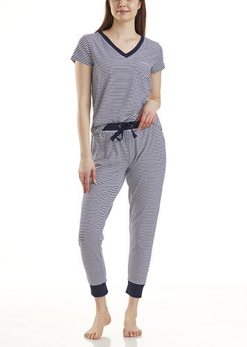 Splendid Summer Stripe Tee and Jogger Pajamas