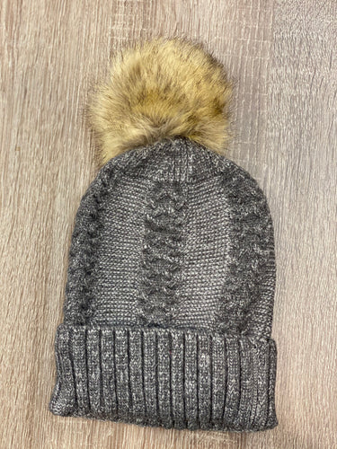 Beanie with Detachable Pom Pom