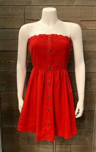 Crescent Riley Dress in Red