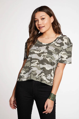 Chaser Brand Scoop Neck Top