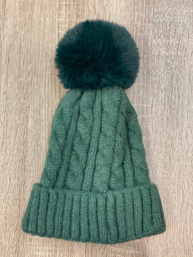 Beanie with Pom Pom - Two Colors