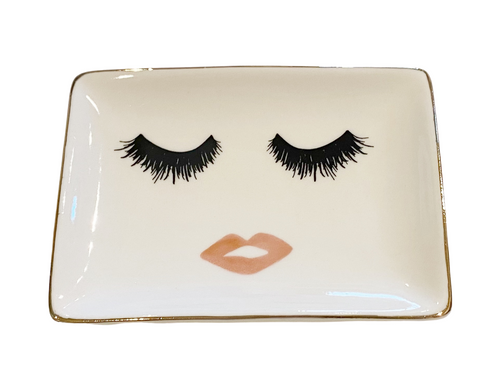 Lashes and Lips Jewelry Dish