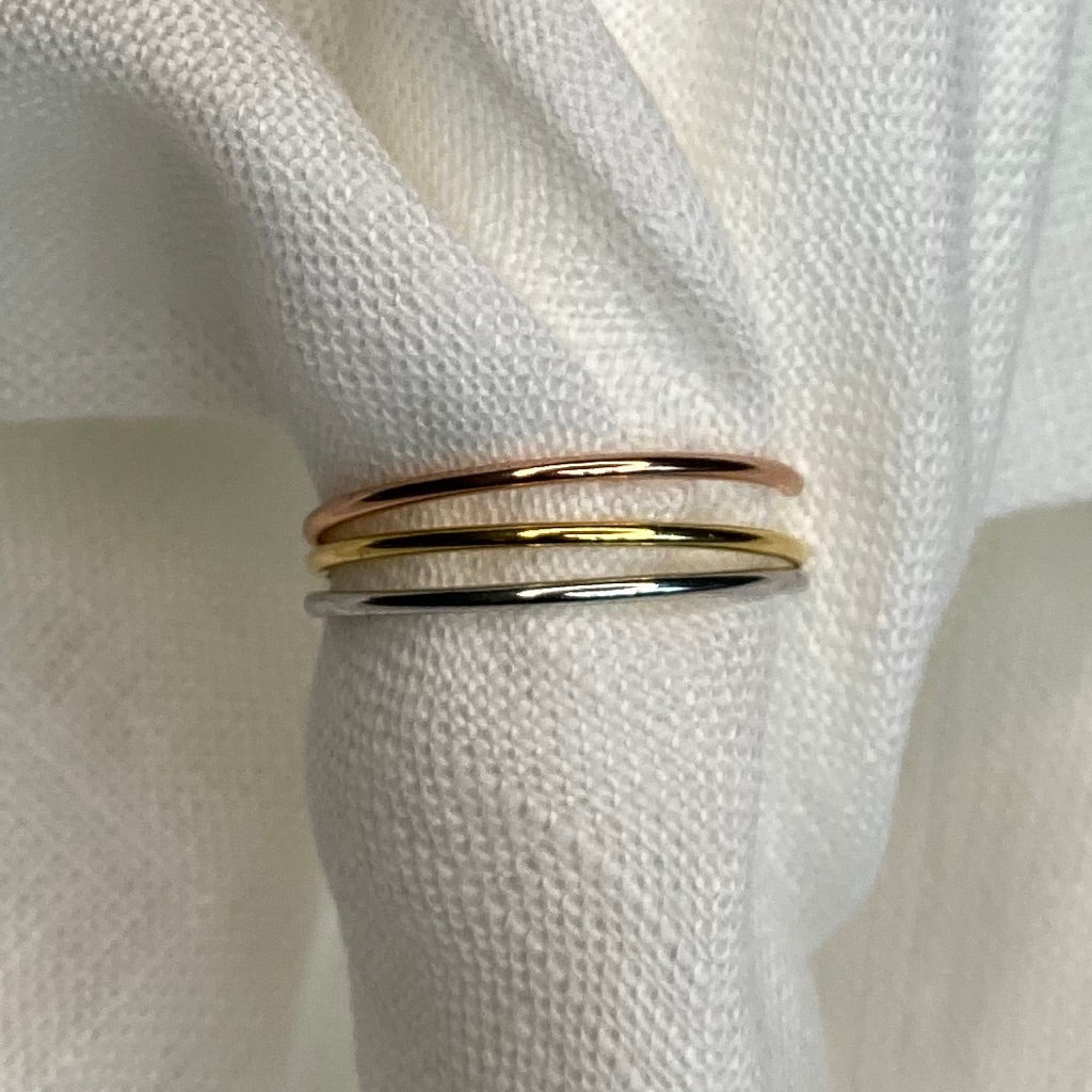 Stackable Mutli Gold Dipped Ring Set