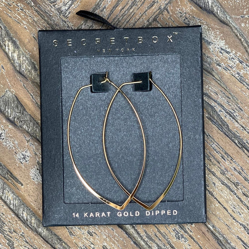 Secret Box 60MM Petal Hoop Earring