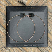 Load image into Gallery viewer, Secret Box 60MM Round Hoop Earring