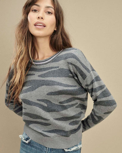 Splendid Zebra Cashblend Sweater