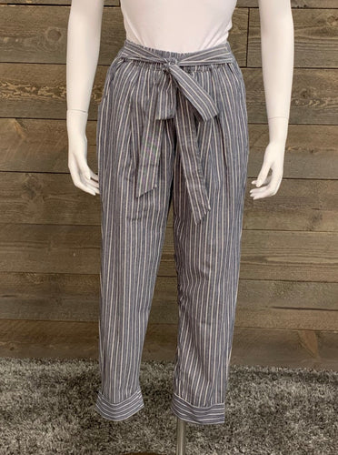 Wishlist Navy and White Striped Woven Pants