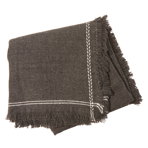 Olive & Pique Lola Blanket Scarf in Charcoal