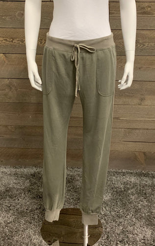 Hard Tail Forever Sparkle Stripe Jogger in Gravel