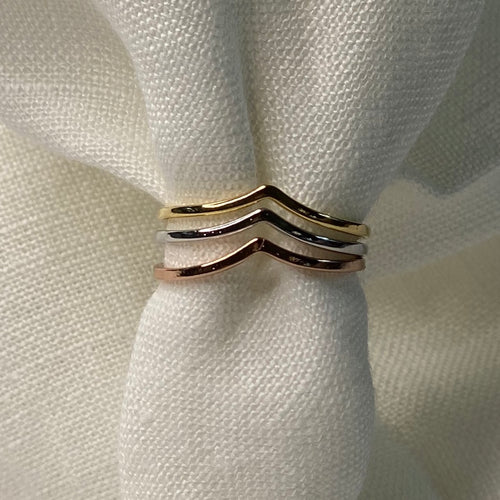 Multi Gold Dipped Ring Set