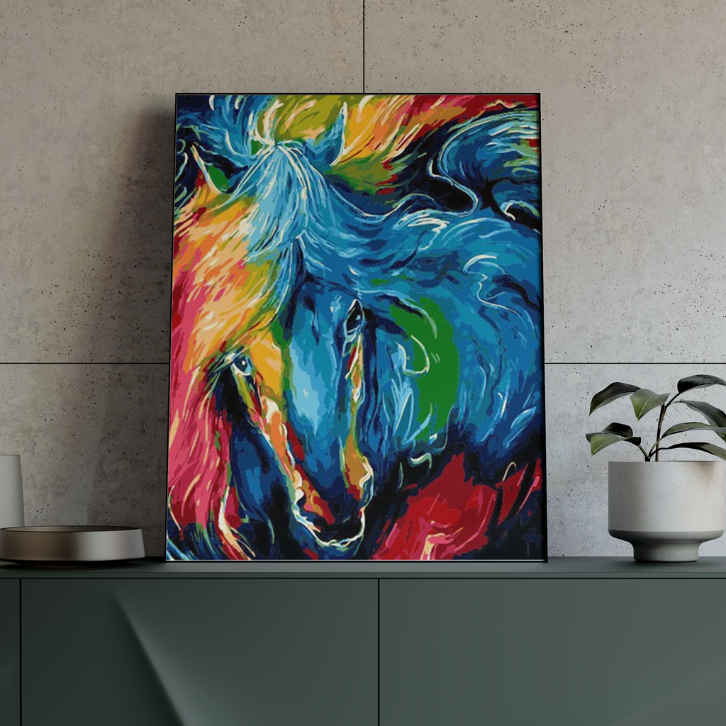 Abstract Horse - Pictură pe numere