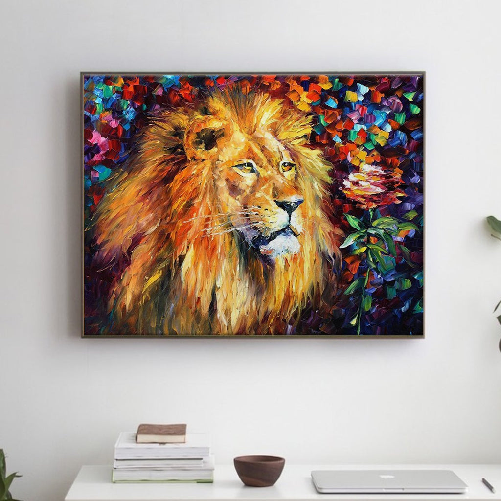 Beautiful Lion - Pictură pe numere