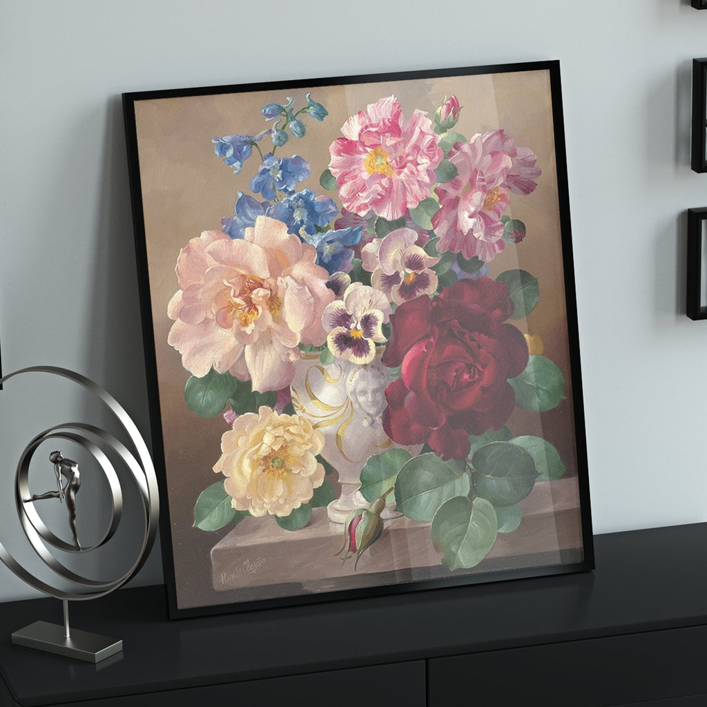 Classic Vase of Flowers - Pictură pe numere