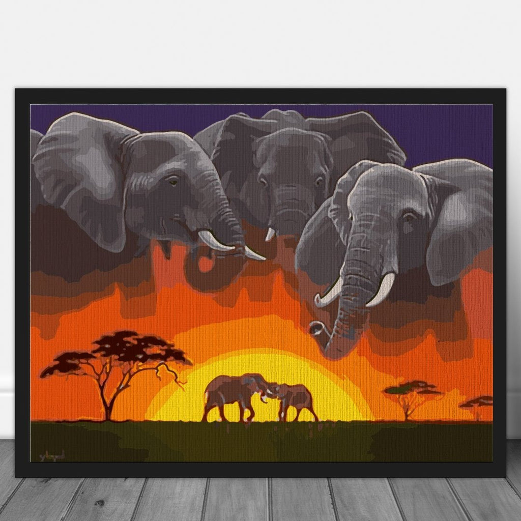 Elephant Tribe - Pictura pe numere