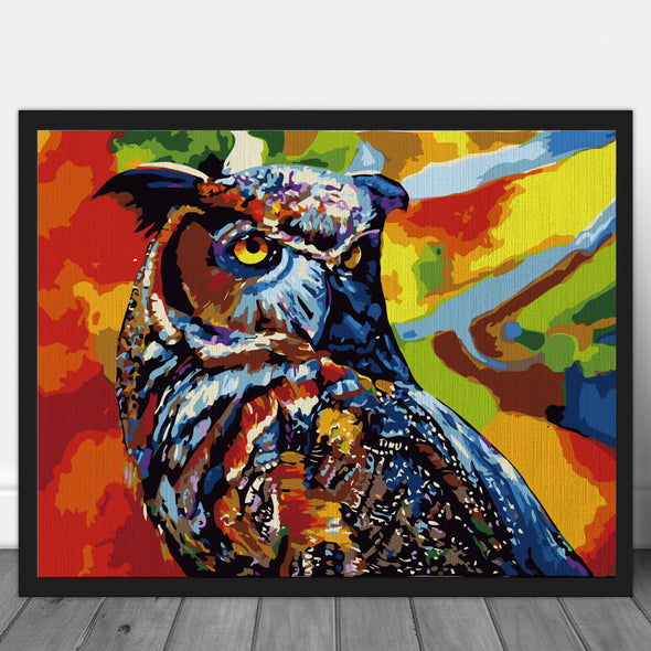 Multicolored Owl - Pictură pe numere