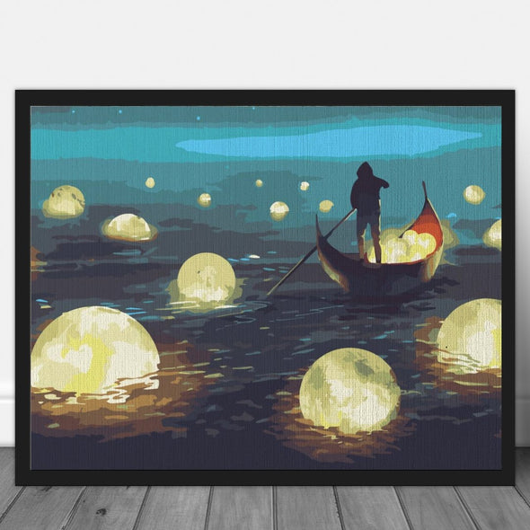 Sailing to the moon - Pictură pe numere - Pictorul Fericit