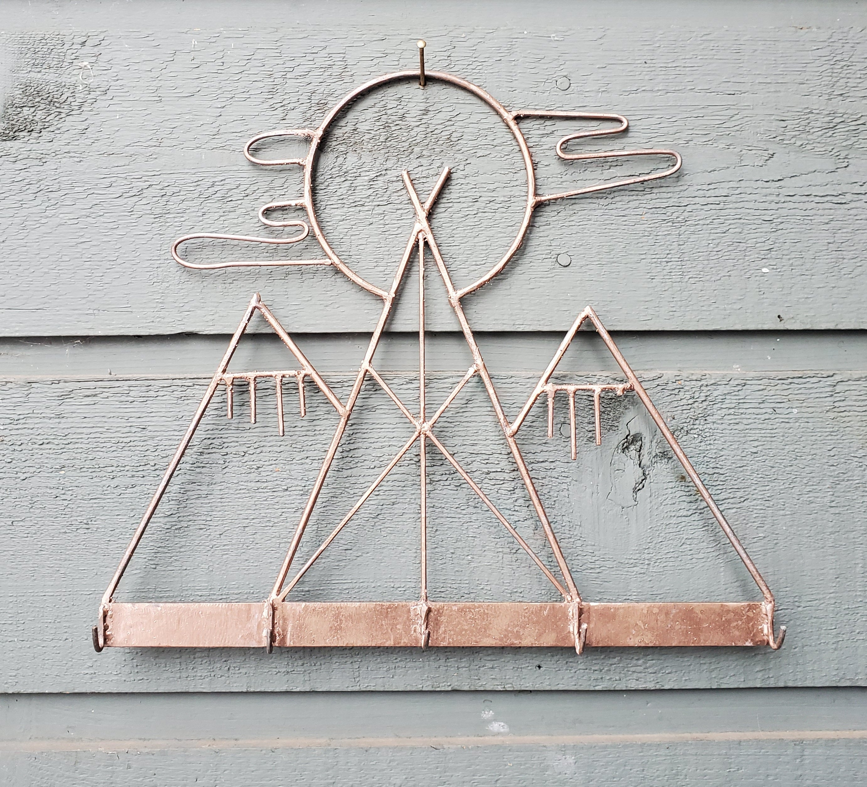 Tipi Sunset Wall Hanger