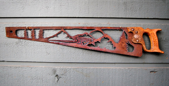 Mountain Scene Saw