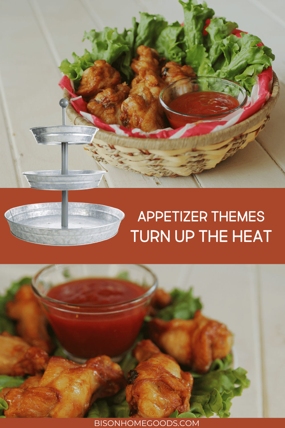 4 Appetizer Themes for Your Galvanized 3-Tier Tray - Turn Up the Heat
