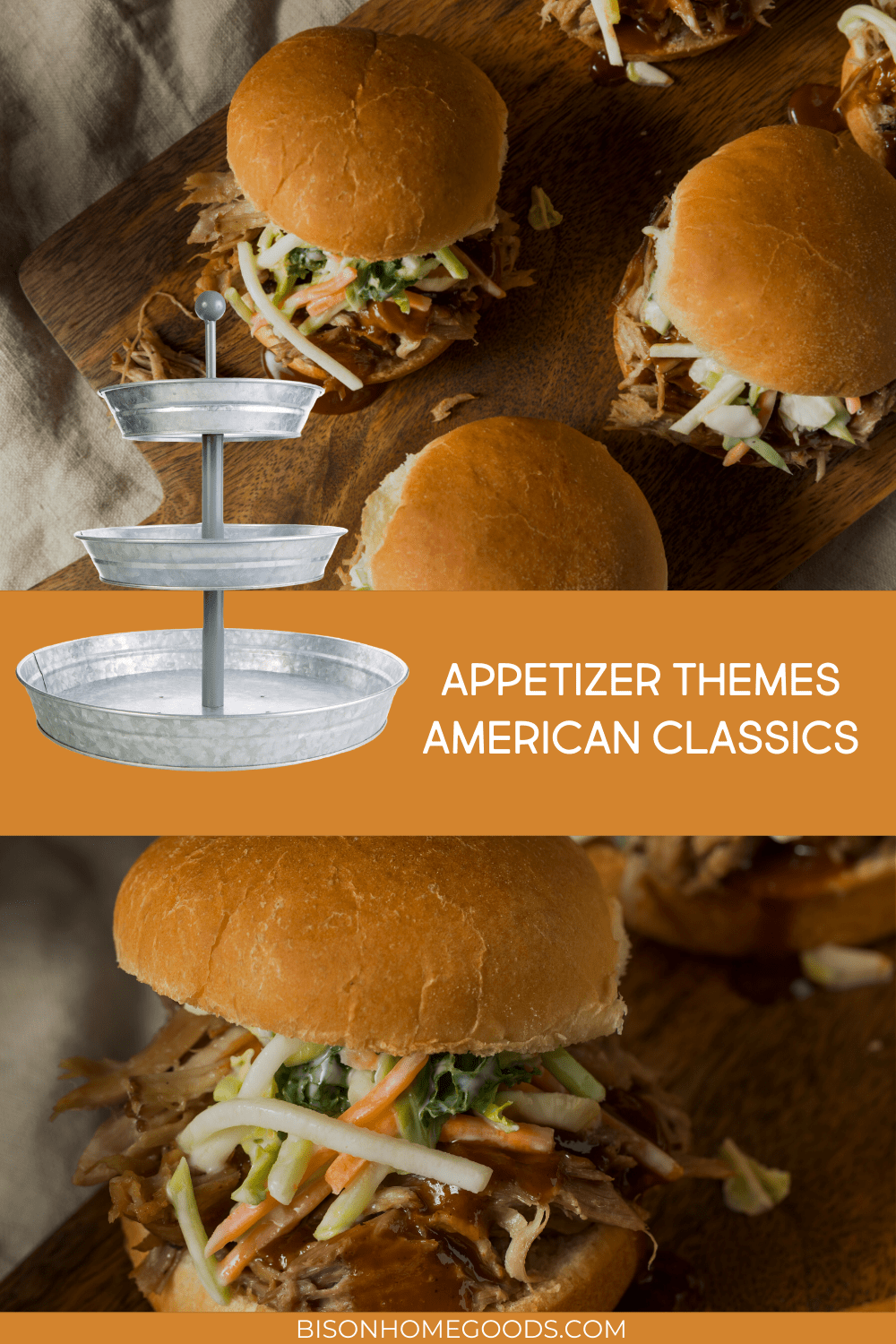 4 Appetizer Themes for Your Galvanized 3-Tier Tray - American Classics