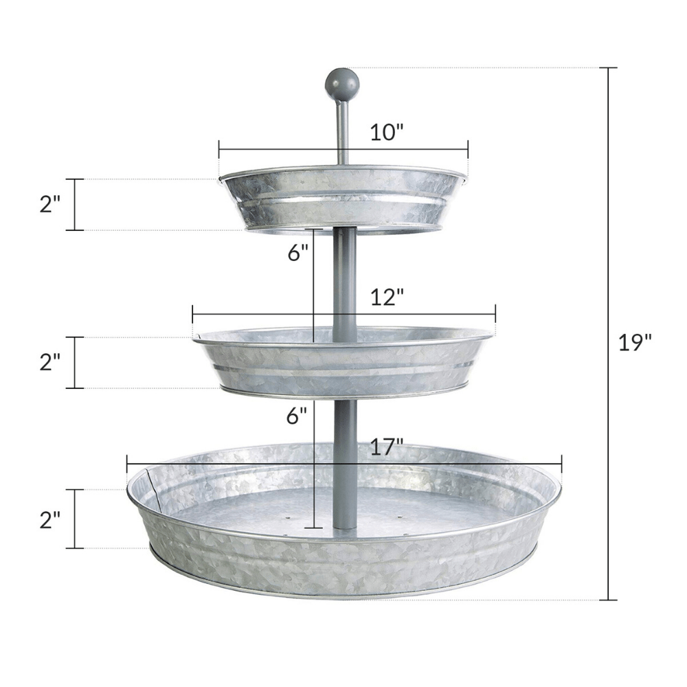 4 Appetizer Themes for Your Galvanized 3-Tier Tray