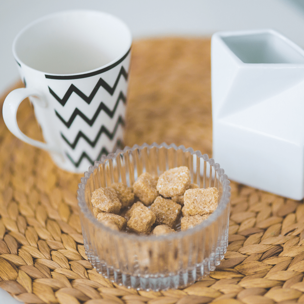 How to Outfit the Perfect Coffee Bar Tray - Coffee mug, milk and sugar cubes