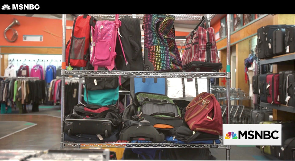 MSNBC Visits Unclaimed Baggage Center