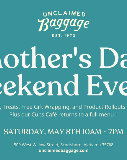 Join us for our Mother's Day Weekend Event!