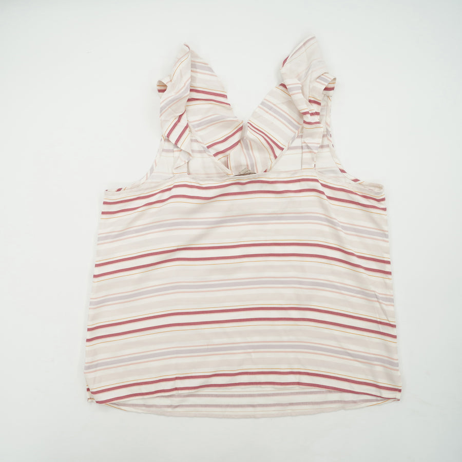 Striped Sleeveless Blouse Size XL