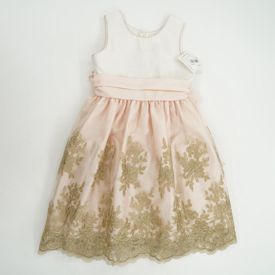 Gold Embroidery Detailed Party Dress Size 10