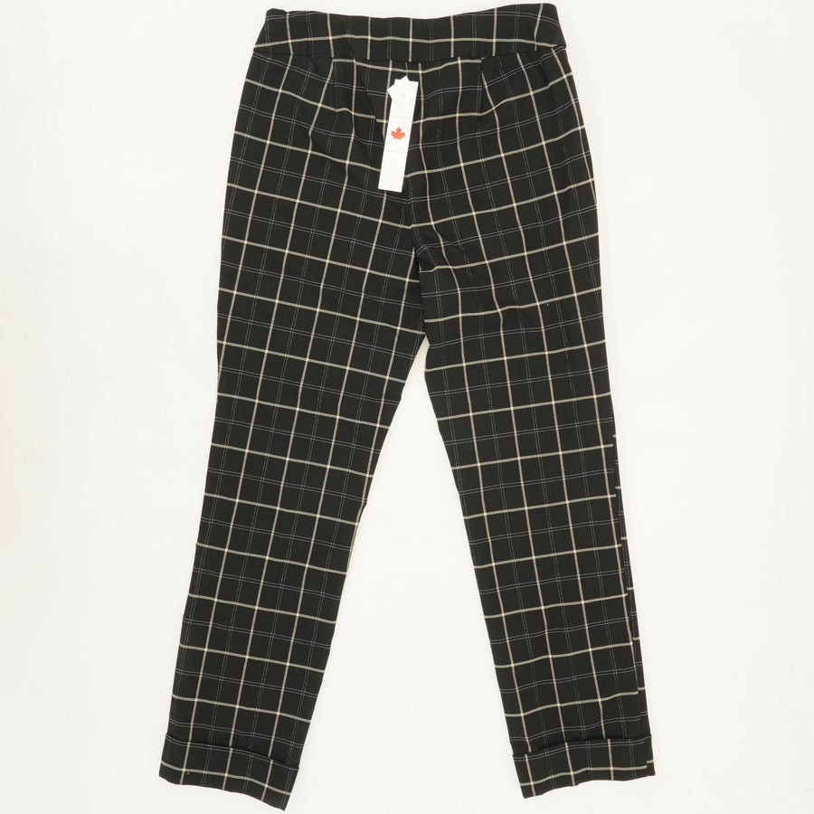 Pull On Pants with Cuff Black Size 8