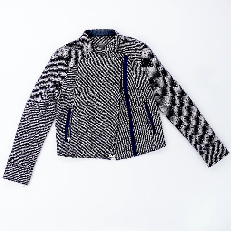 Textured Crop Jacket Size S