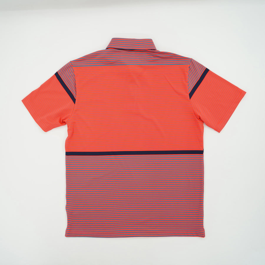 Short Sleeve Striped Polo Size L