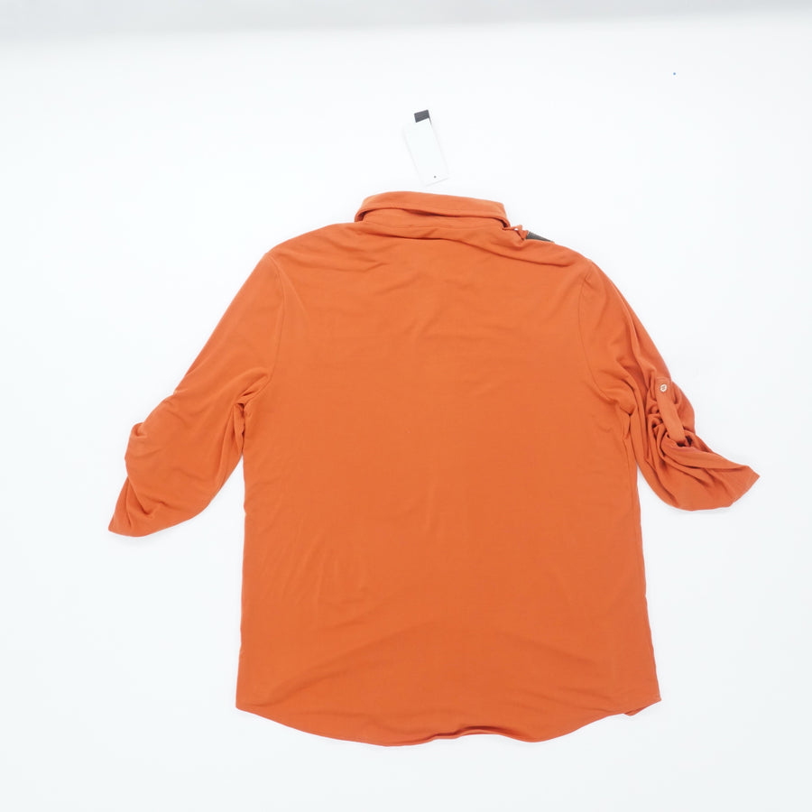 Orange Blouse With Gold Detail Size S