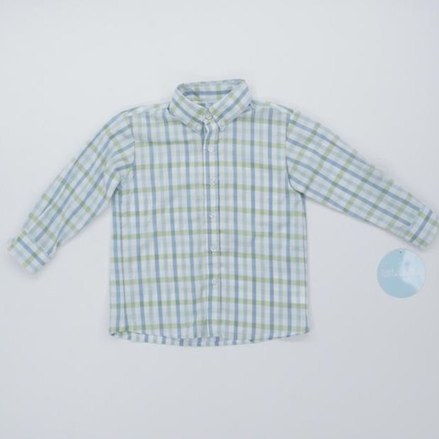 Checked Children's Button Down Size 3