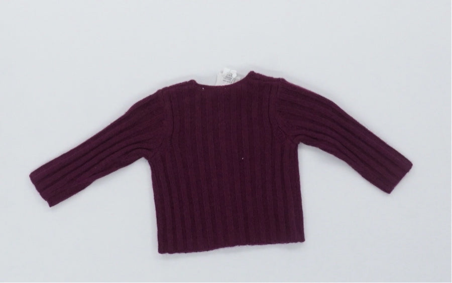 Red Wool Baby Sweater
